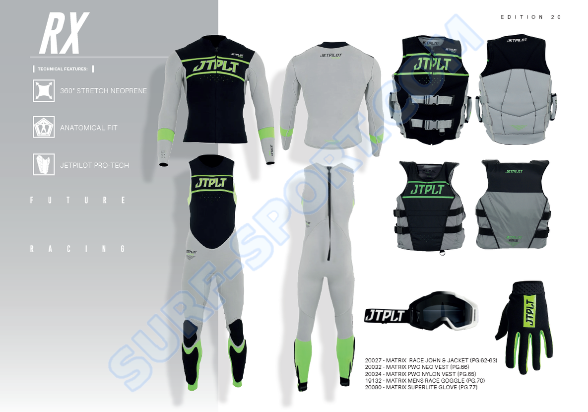 Jet Pilot Matrix Race RX jetski westsuit full set-2020-charcoal-green.png