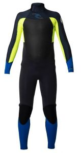 Pianka Rip Curl Down Patrol Junior 3/2 FL B/ZIP 2019 Fluo Lemon