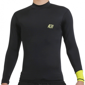 Lycra Jet Pilot Spliced Rashguard Mens LS-2020 Black