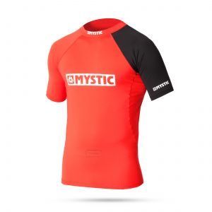 Lycra Mystic Event Rash Vest  S/S 2019 - Red