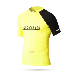 Lycra Mystic Event Rash Vest  S/S 2019 - Yellow