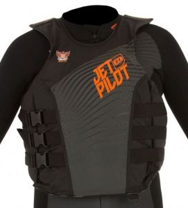 Kamizelka Jet Pilot Matrix Pro Nylon Vest 2018 Charcoal/Orange