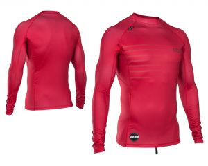 Lycra  ION Rashguard Men L/S Neon Cherry 2018
